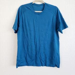 Lululemon Medal Vent Tech Blue T-Shirt Workout Run